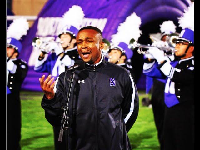 Willis White and NU Marching Band Performs the National Anthem @ Northwestern Football vs Nebraska