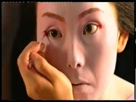 Japanese Maiko painting her face - 1999