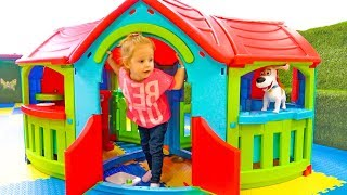 Funny Baby and Toy Max playing on the Indoor playground Entertainment for kids