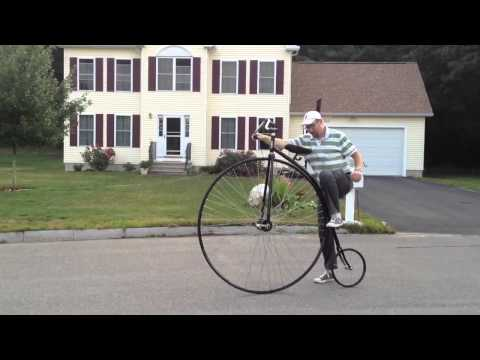 How to ride a Penny Farthing  Nate