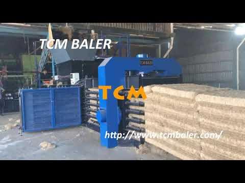 Jute fiber bale press