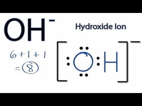 OH- Lewis Structure - How to Draw the Lewis Dot Structure for the Hydroxide Ion