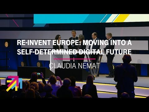 "Social Media Post: Panel-Talk ""Re-Invent Europe"" with Claudia Nemat | Digital X..."