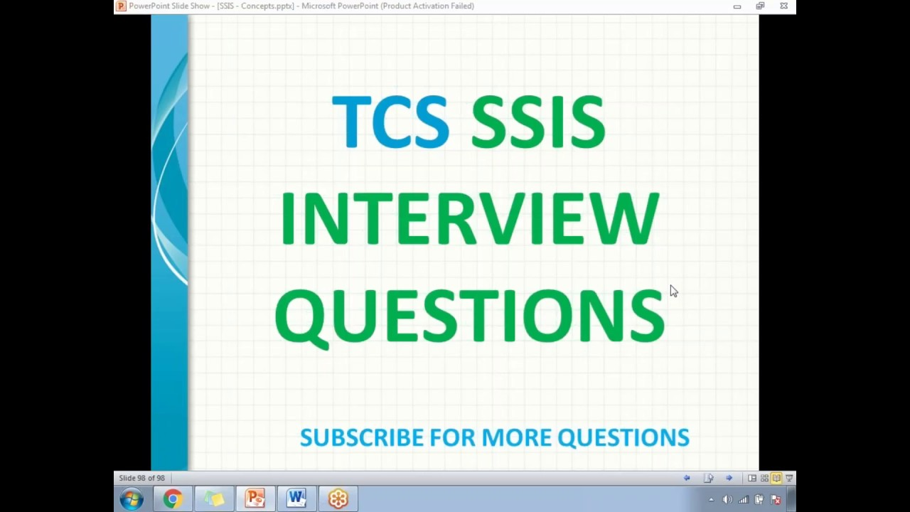 TCS ssis interview questions
