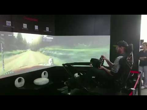 IFA 2017 Racing Simulator Chair fahrt