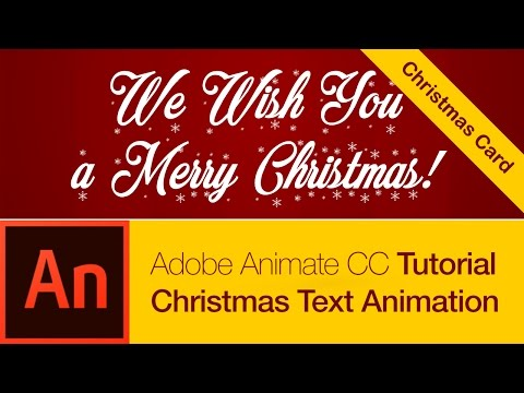 Animate CC Tutorial: Christmas Card Text Animation (FREE DOWNLOAD)