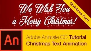 Animate CC Tutoriel: Carte de Noël, Animation de Texte (TÉLÉCHARGEMENT GRATUIT)