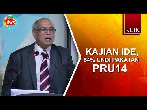Kajian IDE, 54% undi Pakatan PRU14