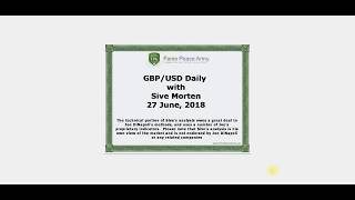 Forex Peace Army | Sive Morten GBPUSD Daily 06.27.18
