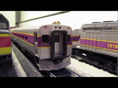 Ho Scale MBTA Train Set. Got them off Ebay.