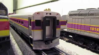 Ho Scale MBTA Train Set. Got them off Ebay.