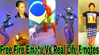 Download 🔥Free Fire All Rare Emotes    Free Fire Game Emote Vs Real Emotes    Free Fire Real Life Emotes   