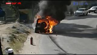 chalti jeep ko agg lagny k bad kia howa khud he dekhe ly