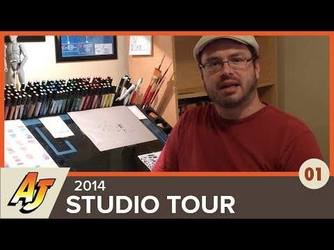 The Art of Andrew Jones: Episode 1, Art Studio Tour