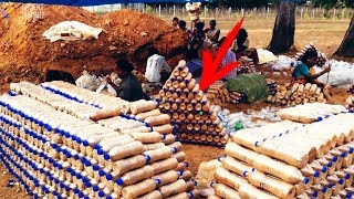 Африканцы додумались строить дома из бутылок  Парализованные теперь смогут гулять