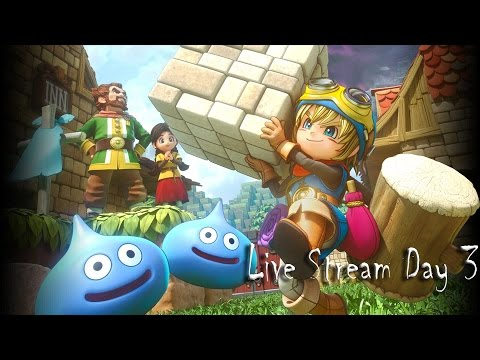 Dragon Quest Builders LIVE  | Lets build this City of rock & roll  Day 3