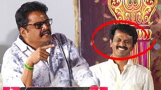சேரனை மேடையிலே கலாய்த்த கே எஸ் ரவிக்குமார் | K S Ravikumar Speech | Thirumanam Audio launch