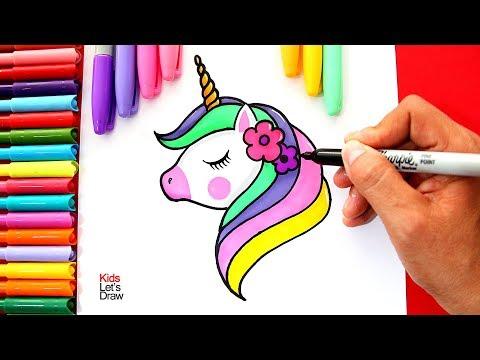 Te enseño a dibujar y pintar un UNICORNIO fácil | Learn to Draw a Unicorn Easy
