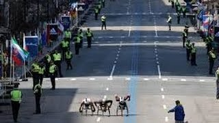 Watch Video  Street Crossing at the Boston Marathon