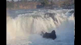 Dhuandhar Waterfall of Narmada River at Bhedaghat Jabalpur Madhya Pradesh India