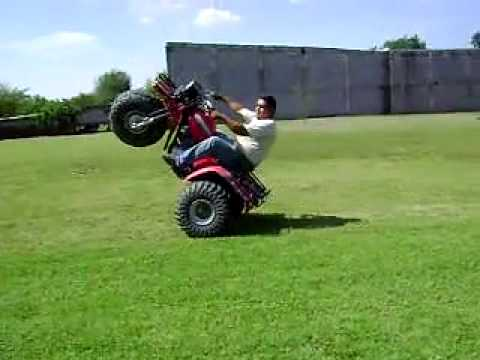 Trimoto 3wheeler 1987 Honda Atc 250es Big Red Wheelies