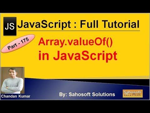 Array.valueOf() in JavaScript | JavaScript Full Tutorial in Hindi thumbnail