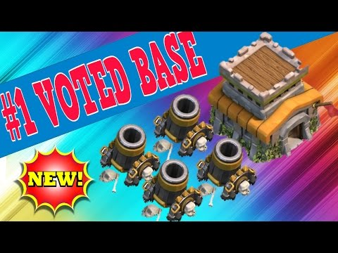 CLASH OF CLANS - TH8 #1 BEST TOWN HALL 8 FARMING BASE (AFTER HALLOWEEN UPDATE + 4 MORTARS) - 2014