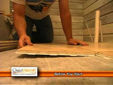 Installing Radiant Floor Heating Under Tile Awesome Quietwarmth
