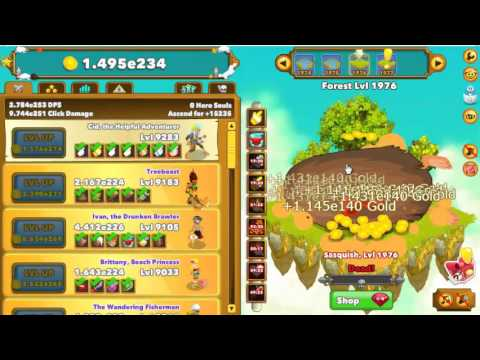 Clicker Heroes Armor Games play game 2000 level