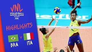 BRAZIL vs. ITALY - Highlights Women | Week 5 | Volleyball Nations League 2019