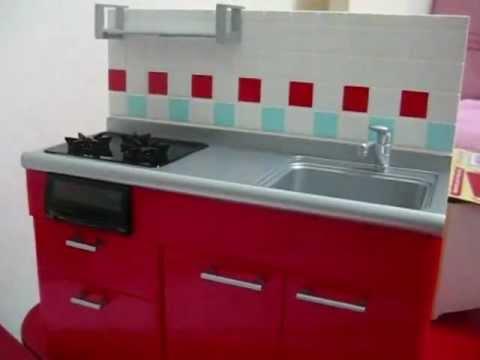 Rement Red Kitchen Set