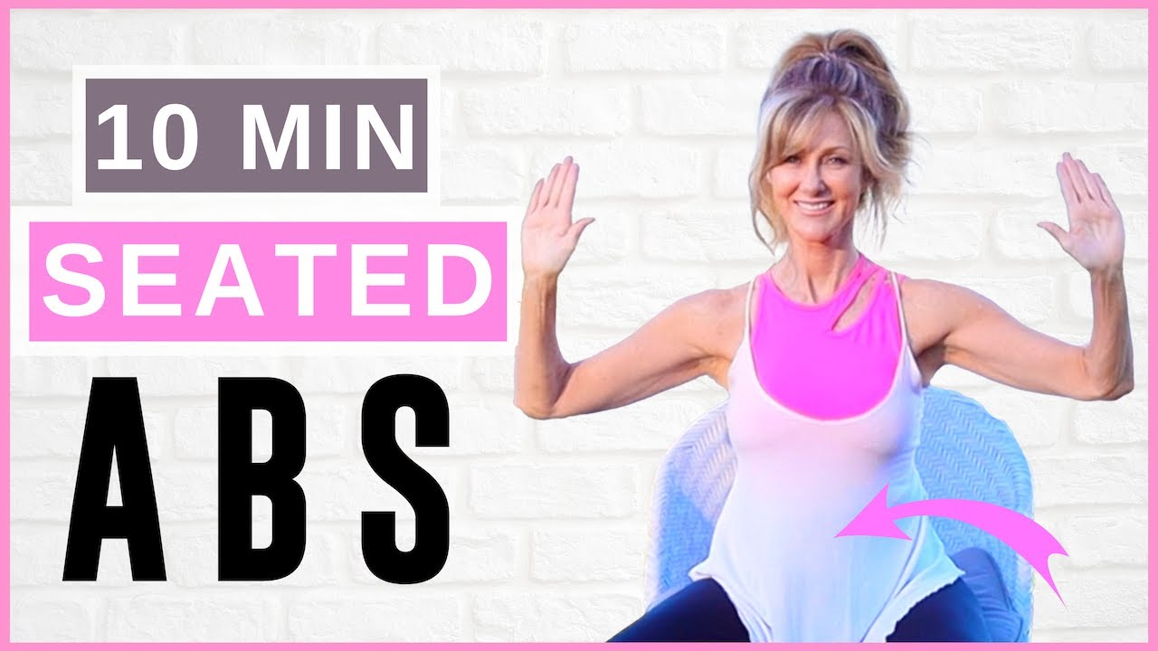 10 min Seated Ab Workout For women Over 50 | Beginner Low Impact!