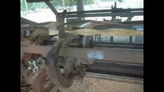 Unique Ober Wood Turning Lathe At Wauseon Ohio Making Unusual Shaped Walking Sticks .avi