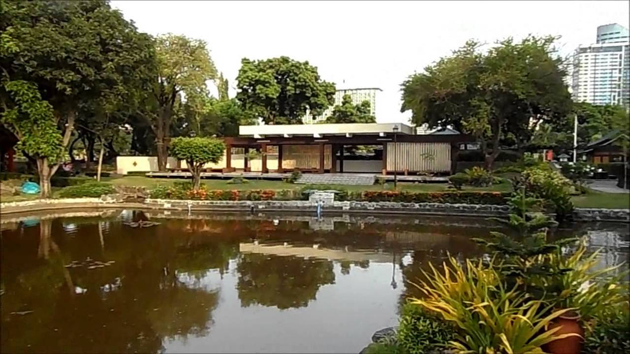 Japanese Garden in Rizal Park, Ermita, Manila - YouTube