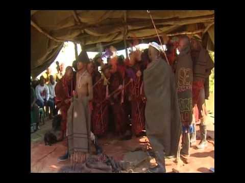 Exhibition of Bastho culture by Basotho men