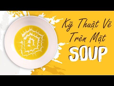 Học Kỹ Thuật Vẽ Trên Mặt Soup Trong Tích Tắc | Hướng Nghiệp Á Âu