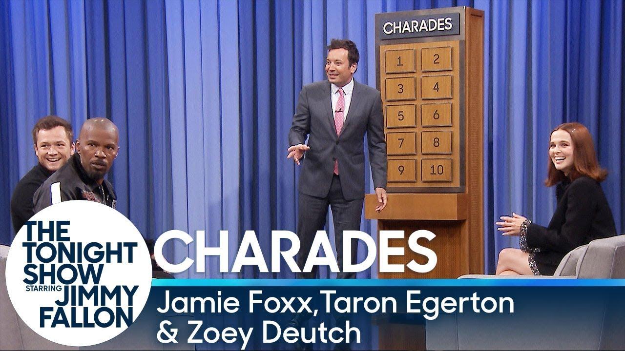 Charades with Jamie Foxx, Taron Egerton and Zoey Deutch