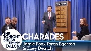 Charades with Jamie Foxx, Taron Egerton and Zoey Deutch