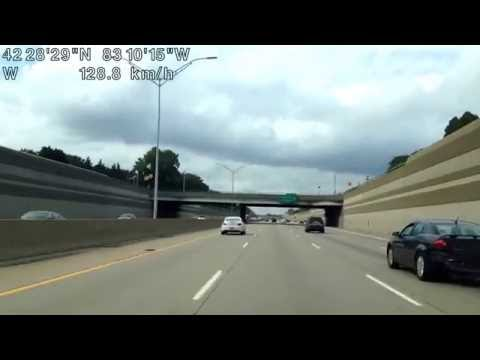 Driving from Madison Heights, Michigan to Southfield, Michigan
