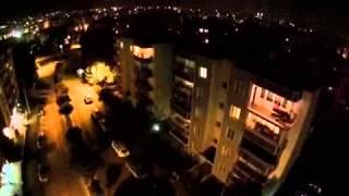 Bursa Nilüfer Türkiye havadan gece çekimleri