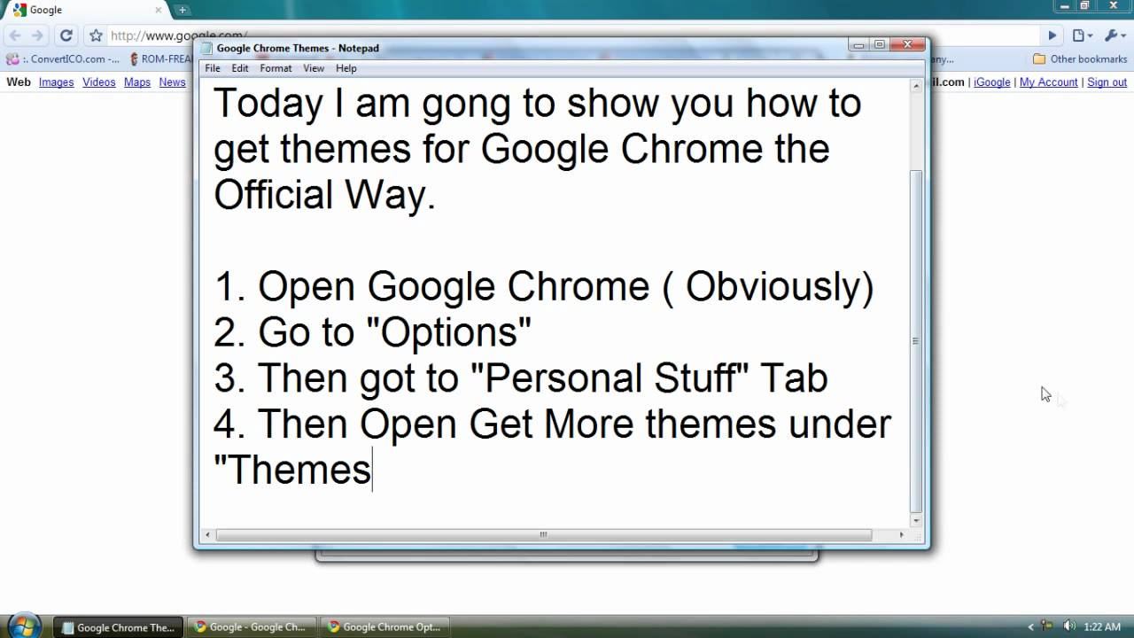 how to get official google chrome themes simple youtube