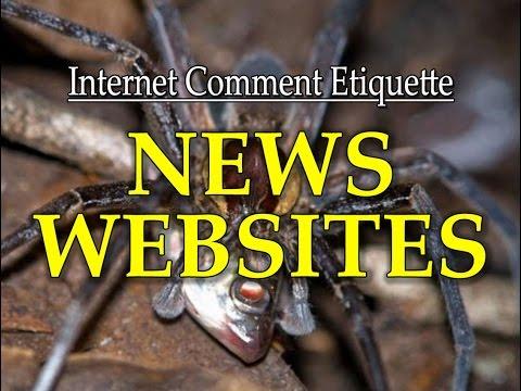 """Internet Comment Etiquette: """"News Websites"""""""