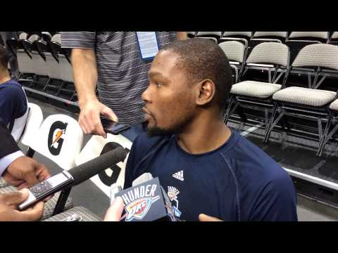 Durant: Shootaround Dallas 10.10.14