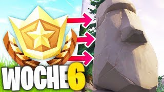 ALL SOLUTIONS for WEEK 6 - Fortnite (Battle Pass Star, Stone Heads, Time Trials)