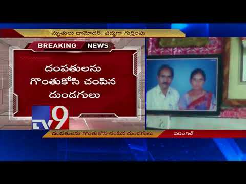 Thieves rob gold, murder couple in Urban Warangal - TV9