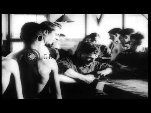 Newly recruited American Army soldiers undergo medical examination in United Stat...HD Stock Footage