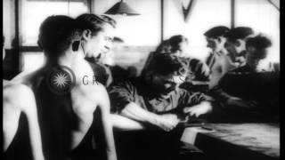 Repeat youtube video Newly recruited American Army soldiers undergo medical examination in United Stat...HD Stock Footage