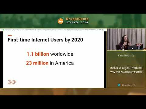 DCATL 2018 - Inclusive Digital Products Why Web Accessibility Matters - Kara Gaulrapp on YouTube