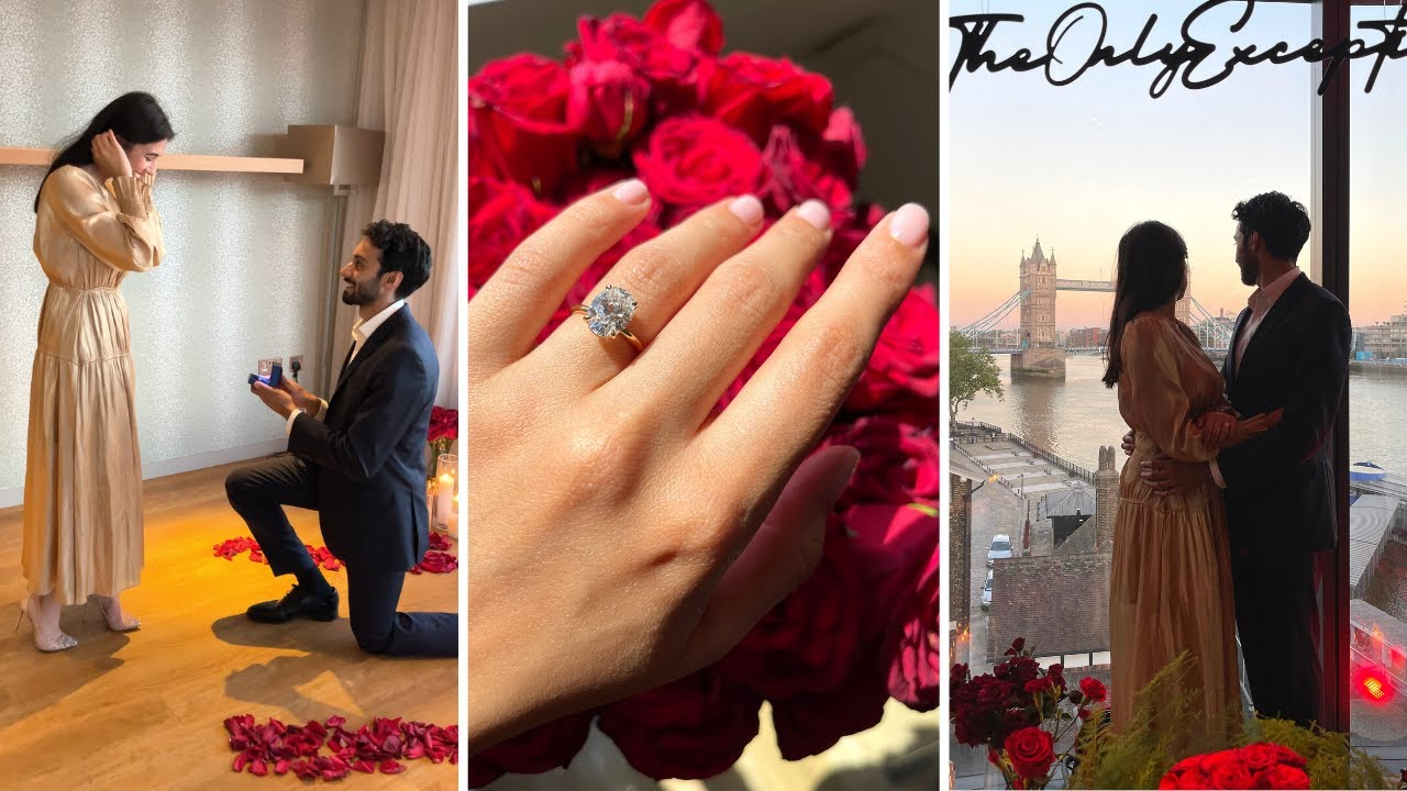 I can't believe he did this... SURPRISE PROPOSAL 😭🌹 *I had NO idea!
