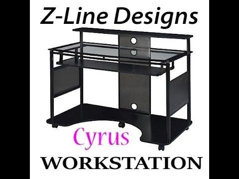 Z Line Designs Cyrus Workstation Computer Desk Youtube